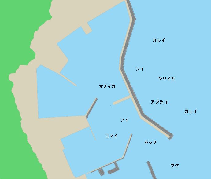 古平漁港ポイント図