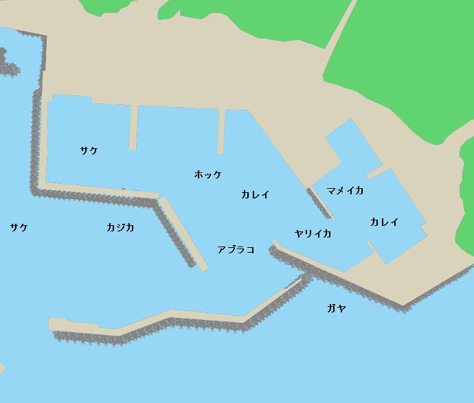 久遠漁港ポイント図