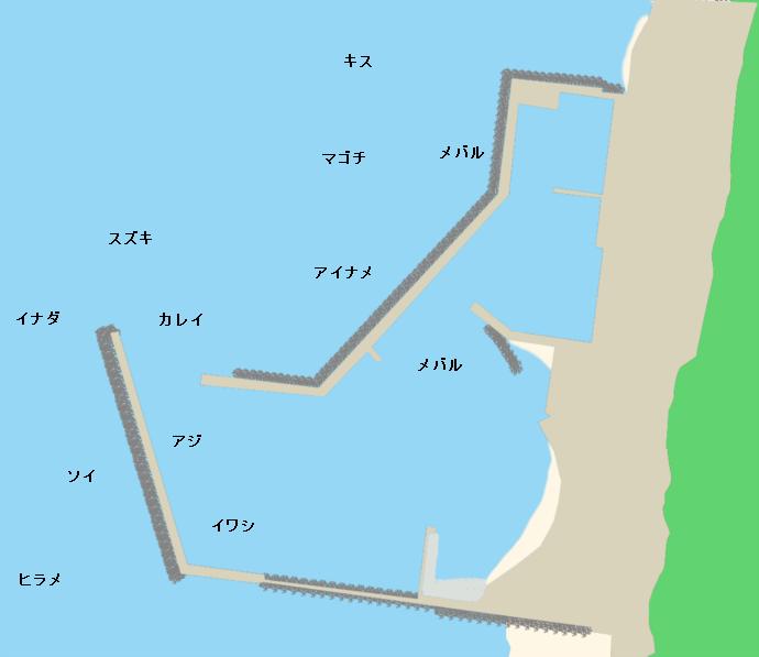 車力漁港ポイント図