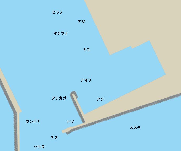 串木野新港ポイント図