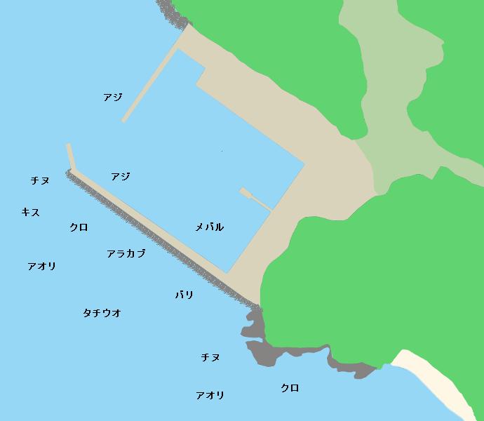 牧島弁天ポイント図