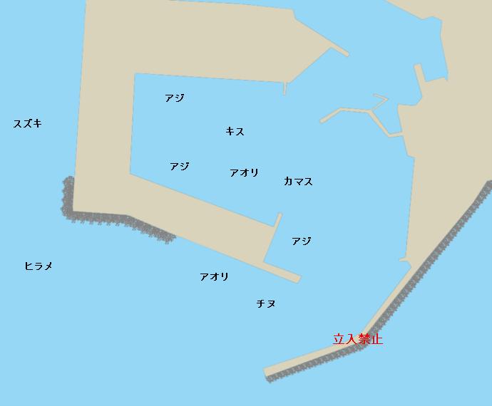 枕崎港ポイント図