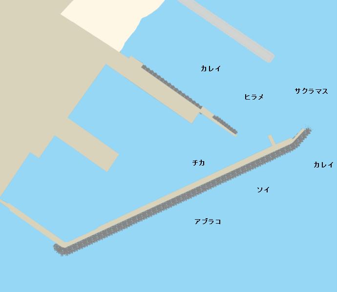 長万部漁港ポイント図
