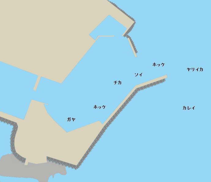 松前港ポイント図