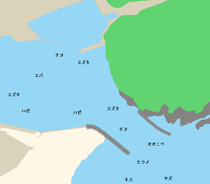 耳川河口ポイント図