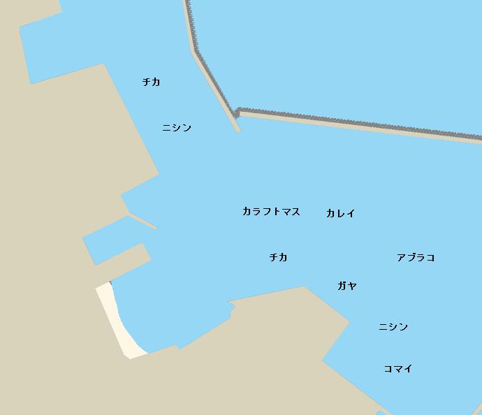 紋別港ポイント図
