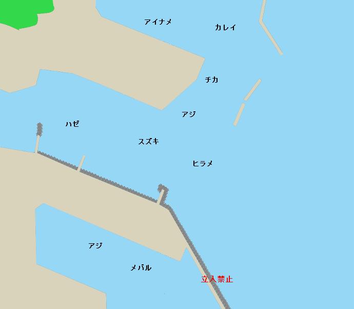 宮古港ポイント図