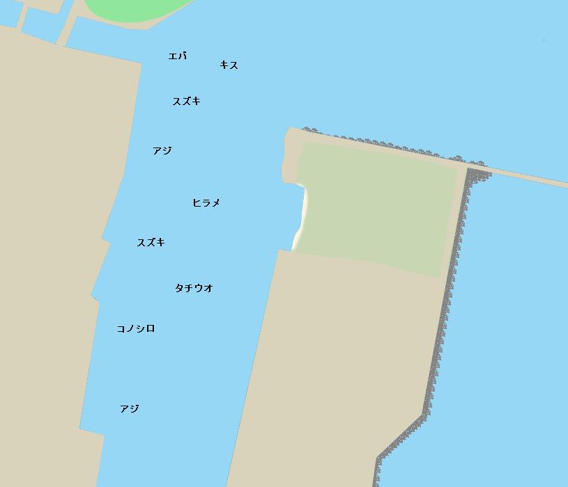 宮崎港ポイント図