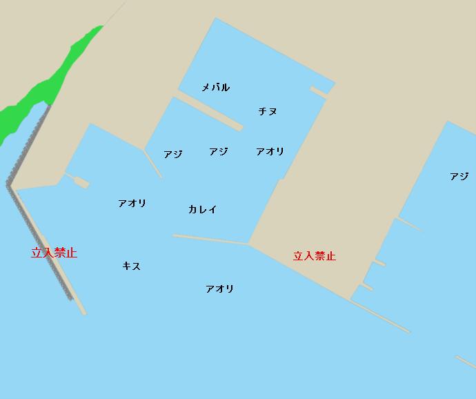 新長崎漁港ポイント図