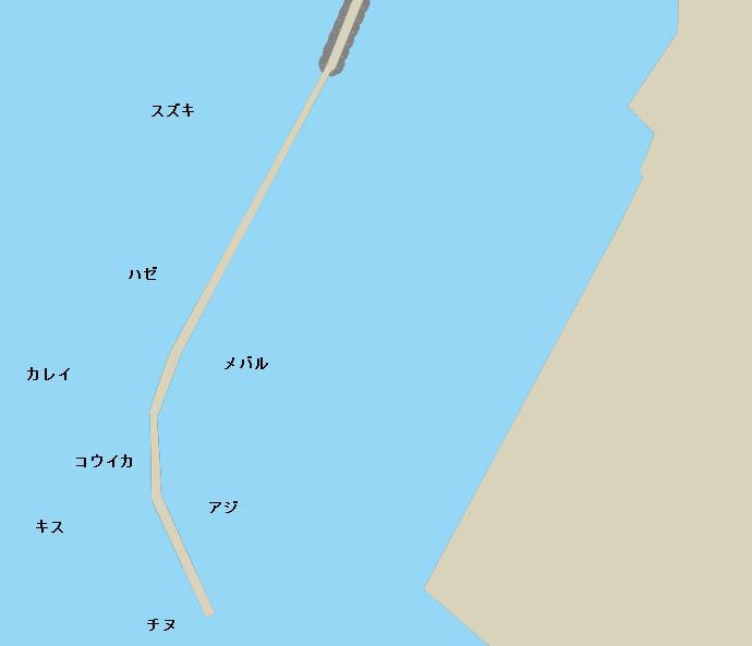 長洲港ポイント図
