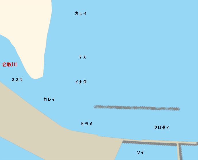 名取川河口ポイント図