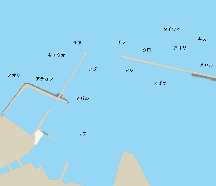西大分港ポイント図