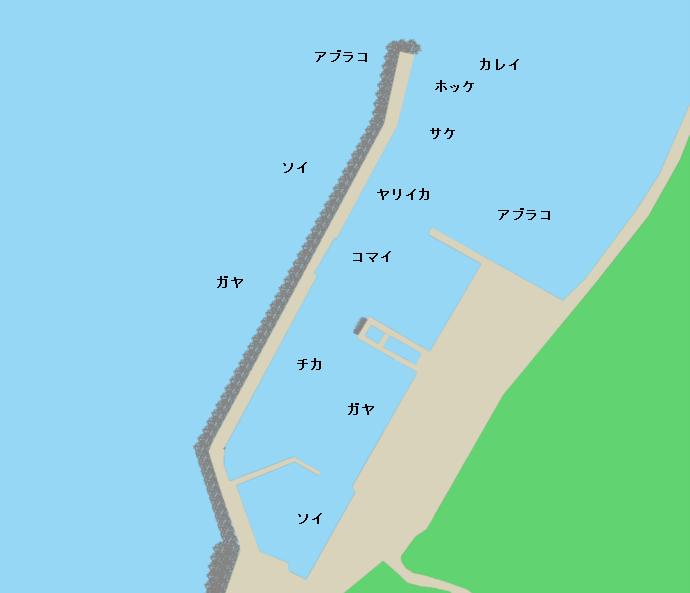 雄冬漁港ポイント図