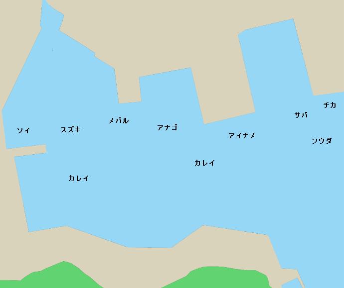 女川港ポイント図