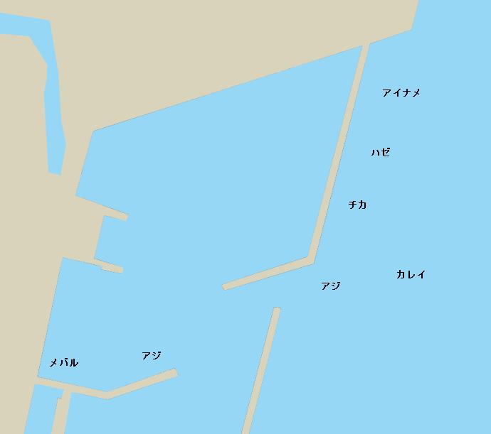 大船渡港ポイント図