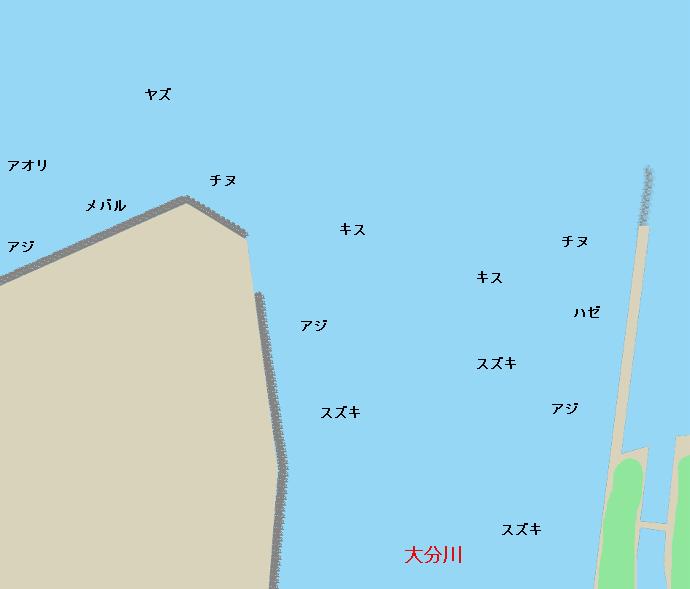 大分川河口ポイント図