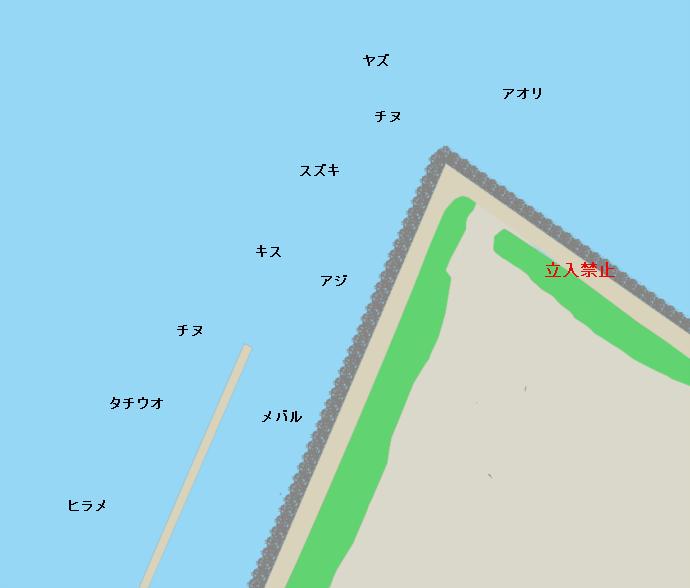 大野川河口ポイント図