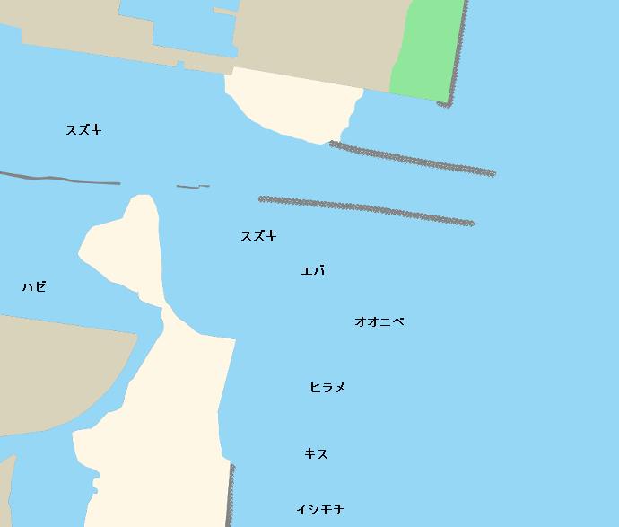 大淀川河口ポイント図
