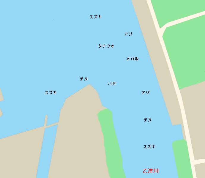 乙津港ポイント図