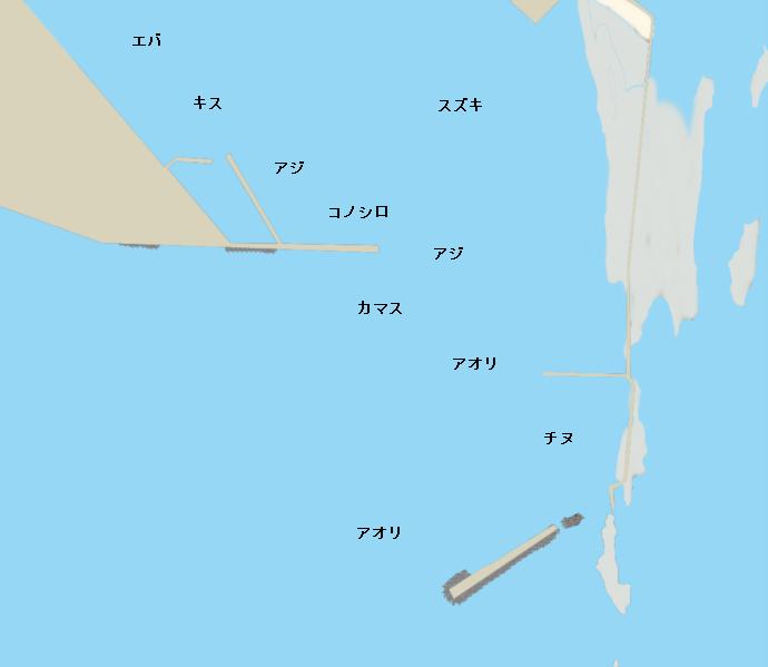 内海港ポイント図