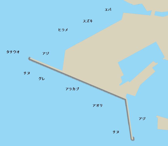 鹿屋港ポイント図