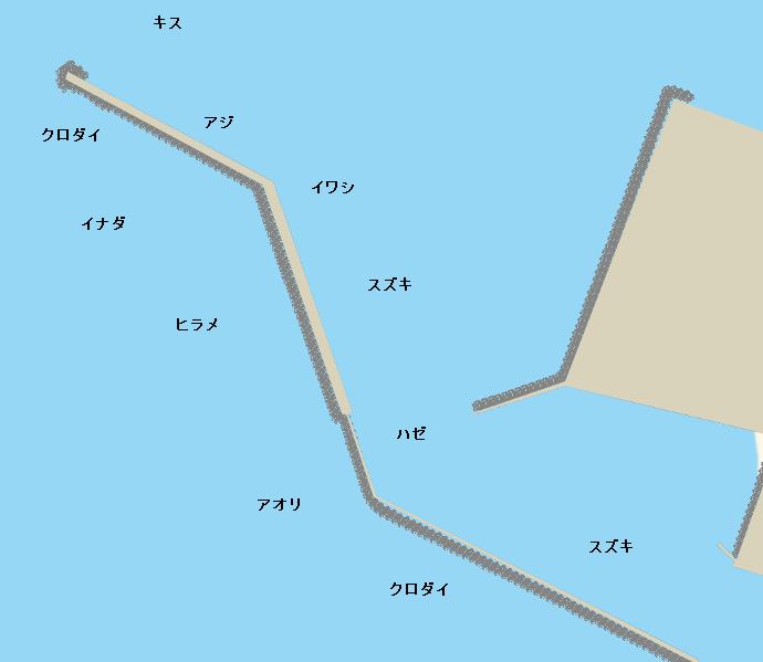 酒井本港ポイント図