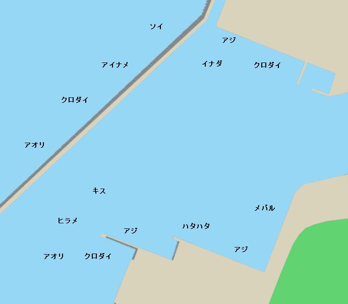 酒田北港ポイント図