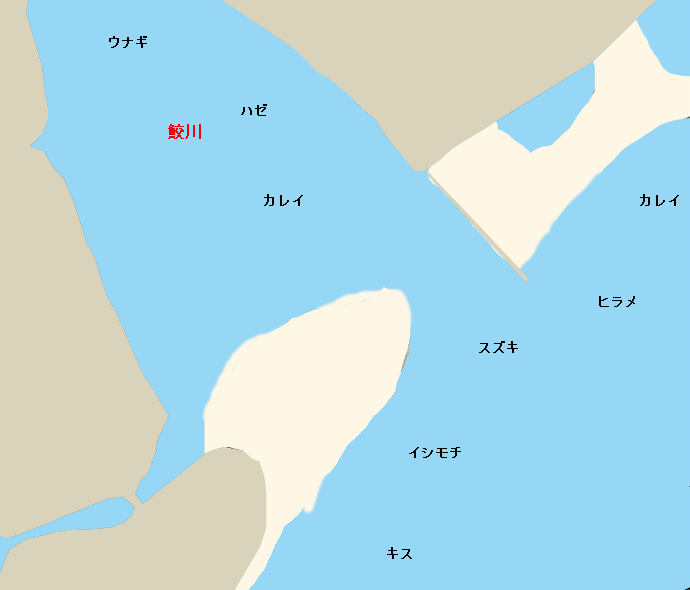 鮫川河口ポイント図