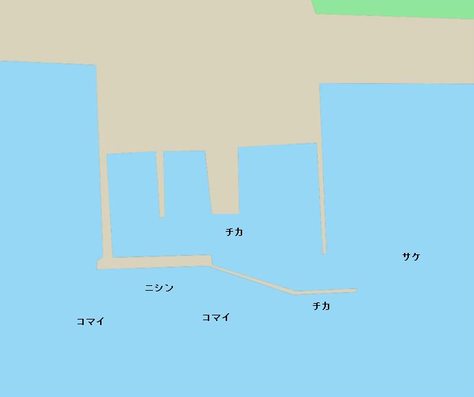 サロマ湖のポイント(登栄床漁港)