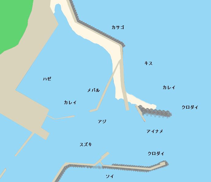 四倉港ポイント図