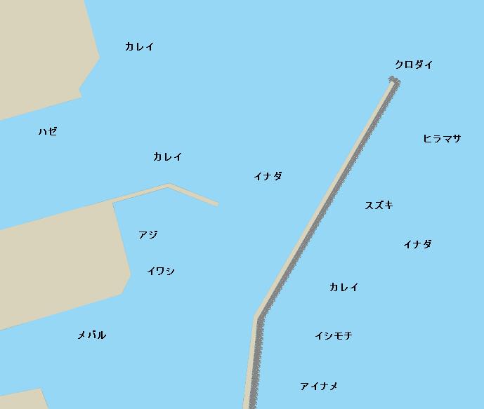 相馬港ポイント図
