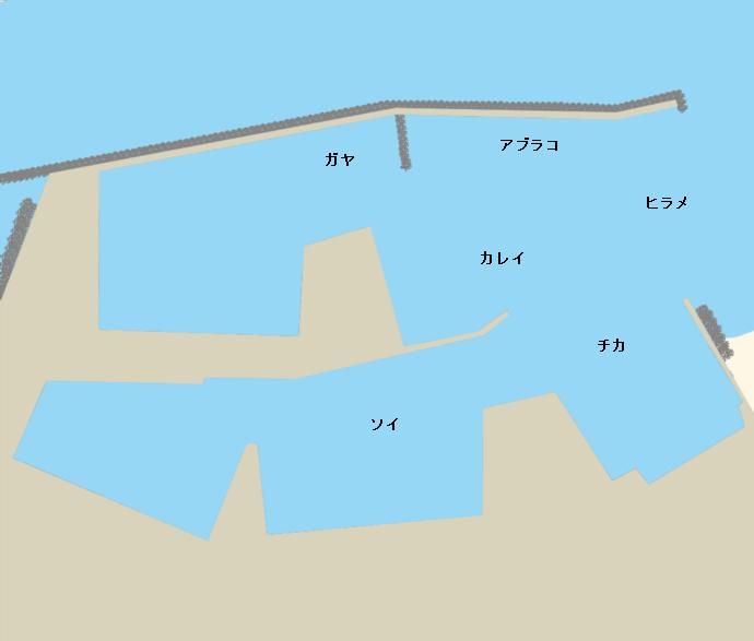 砂原漁港ポイント図