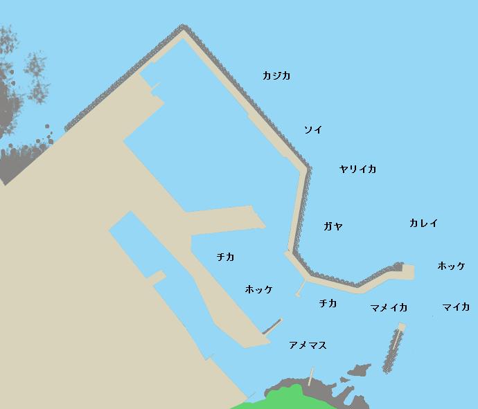 寿都漁港ポイント図