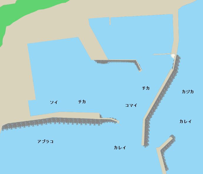庶野漁港ポイント図