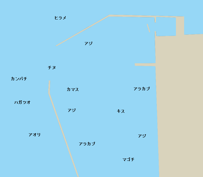 垂水新港ポイント図