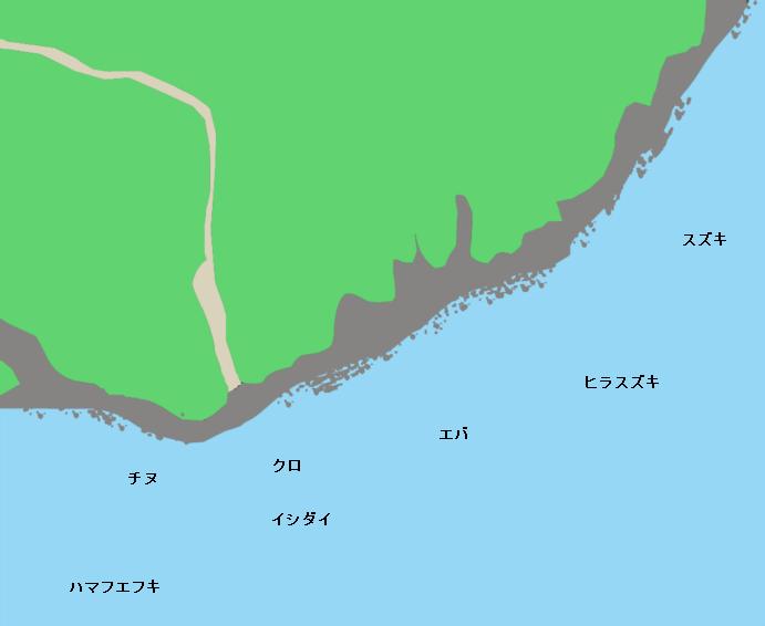 都井岬ポイント図