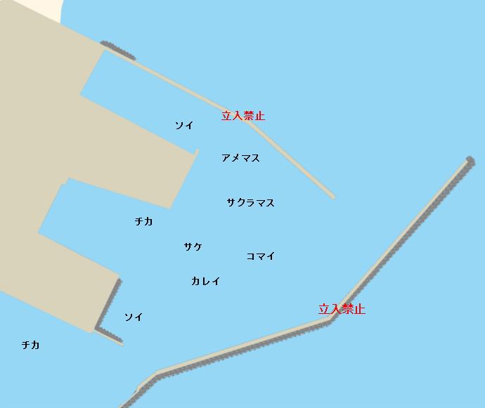 十勝港ポイント図