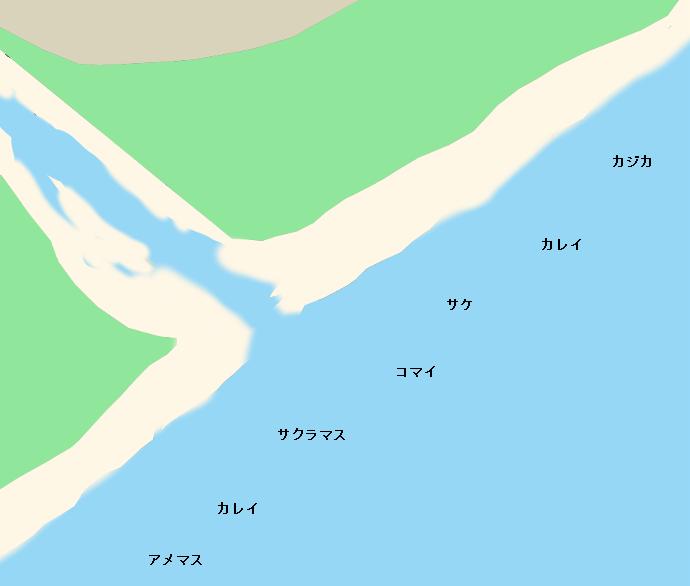 音別海岸ポイント図