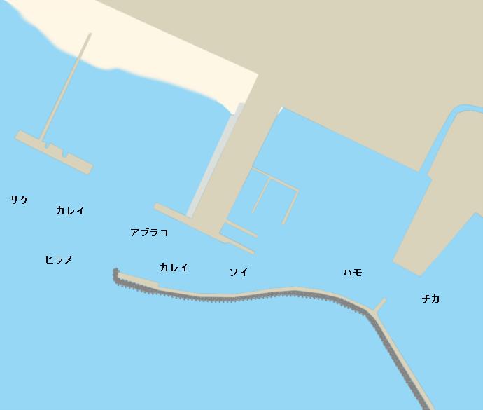 豊浦漁港ポイント図