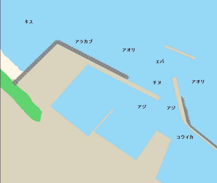 内之浦漁港ポイント図