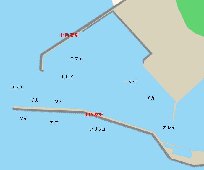 浦河港ポイント図