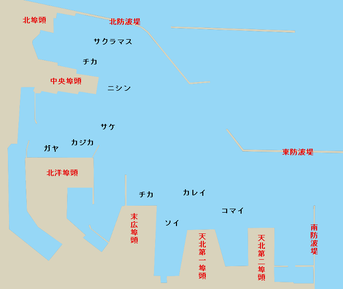 稚内港ポイント図