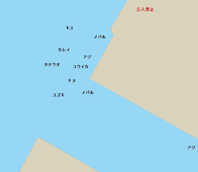 八代外港ポイント図