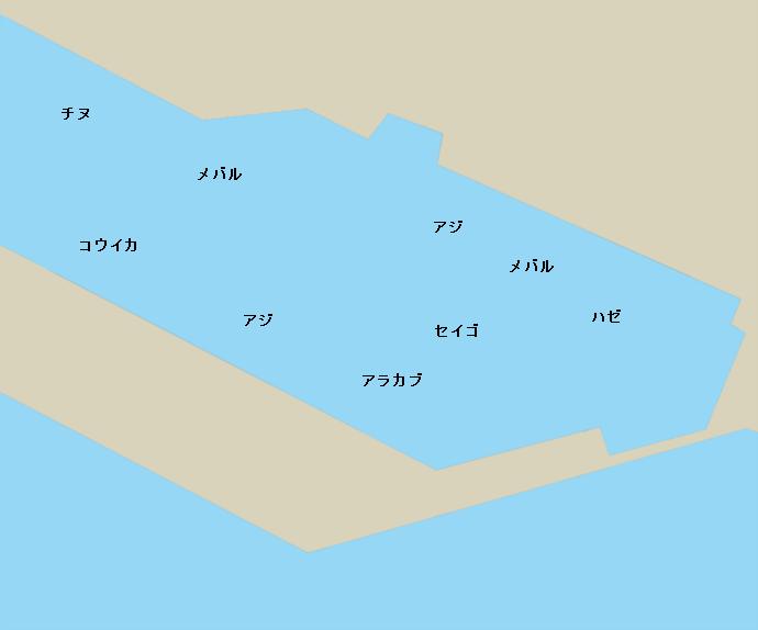 八代内港ポイント図