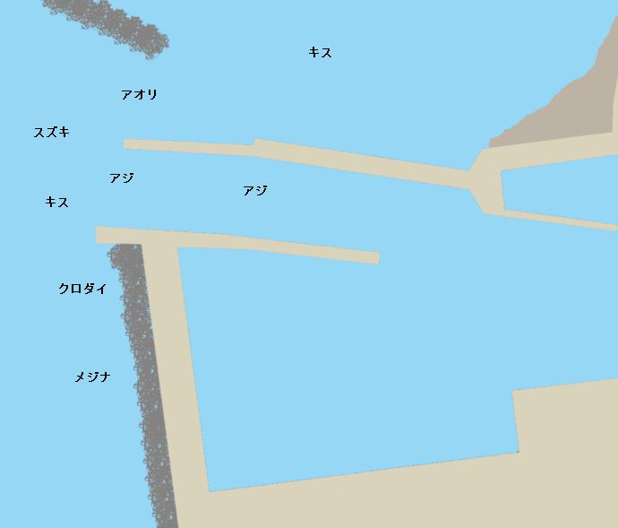 相浜港ポイント図