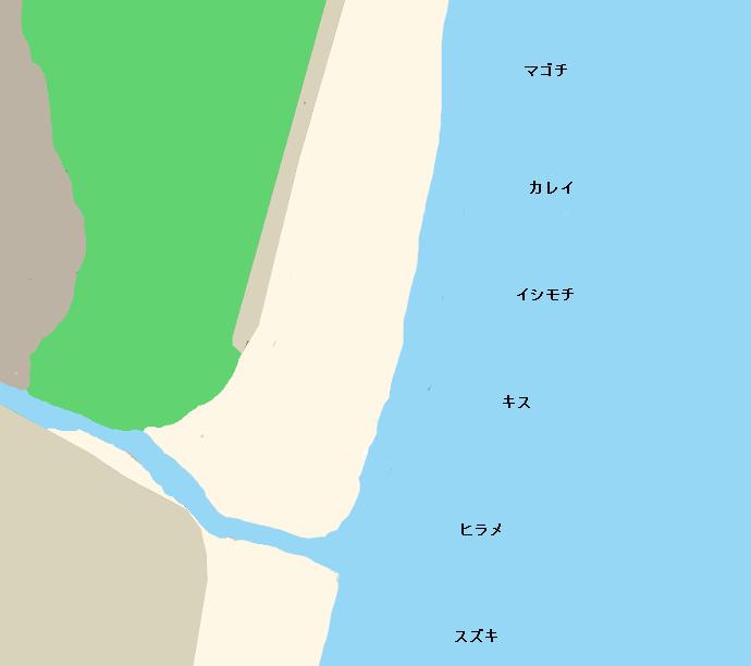 赤浜海岸ポイント図