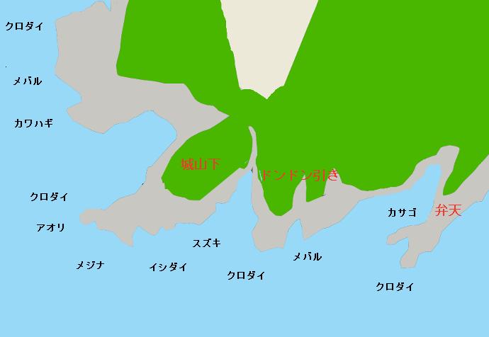 荒崎ポイント図