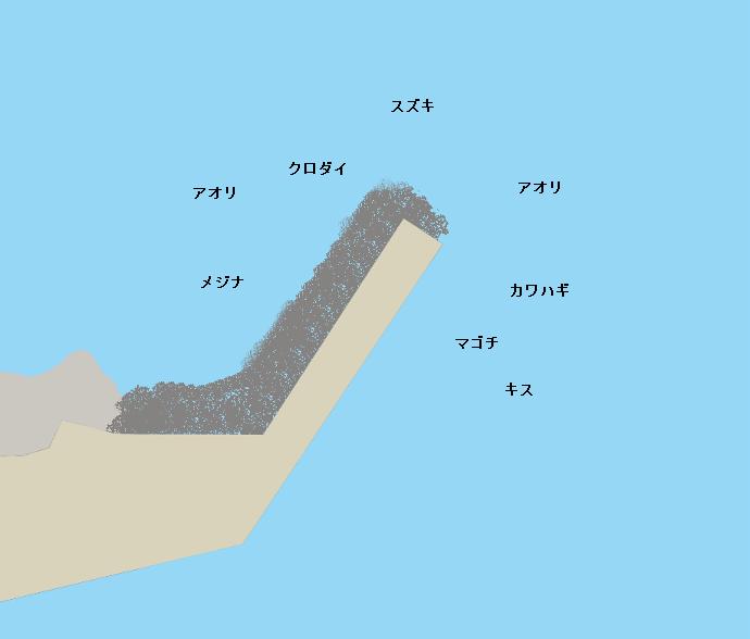 坂田堤防ポイント図
