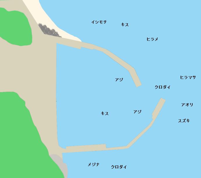 部原港ポイント図