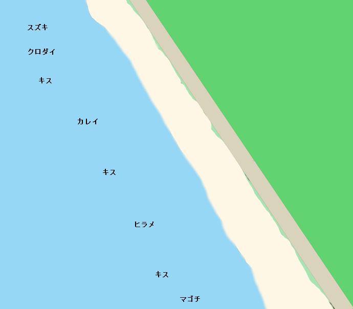 出戸浜ポイント図